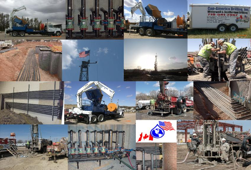 Collage of CanAmDrilling in Action